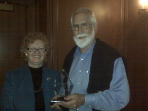 Susan Piper, 2010 Award Receipient, and Chapter President Tom Tobin